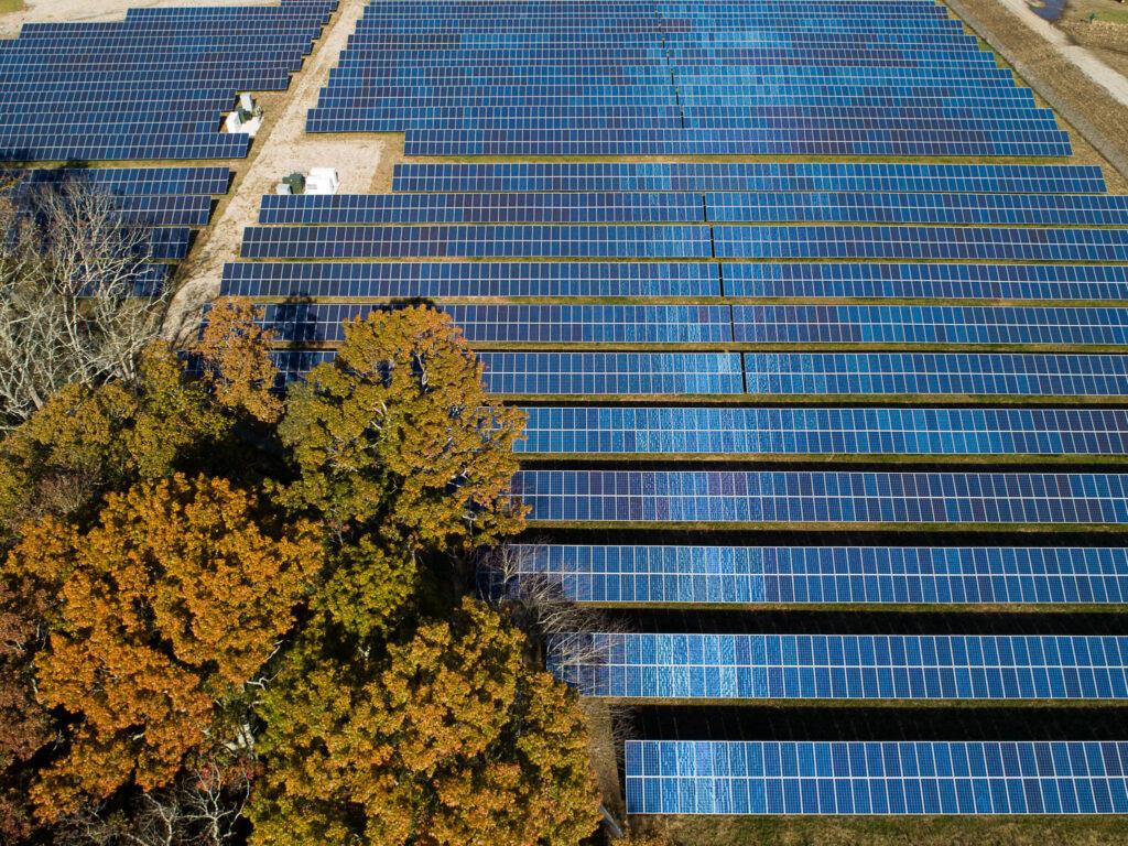 Solarenergiefeld, Rhode Island, USA